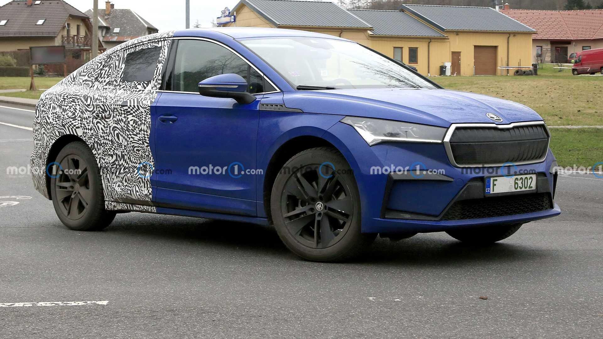 Škoda testuje sportovní verzi Elektrokrosu Enyaq GT